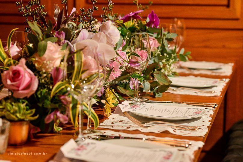 Detalhes na Mesa de convidados