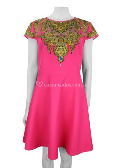 Vestido Ted Baker pink curto p
