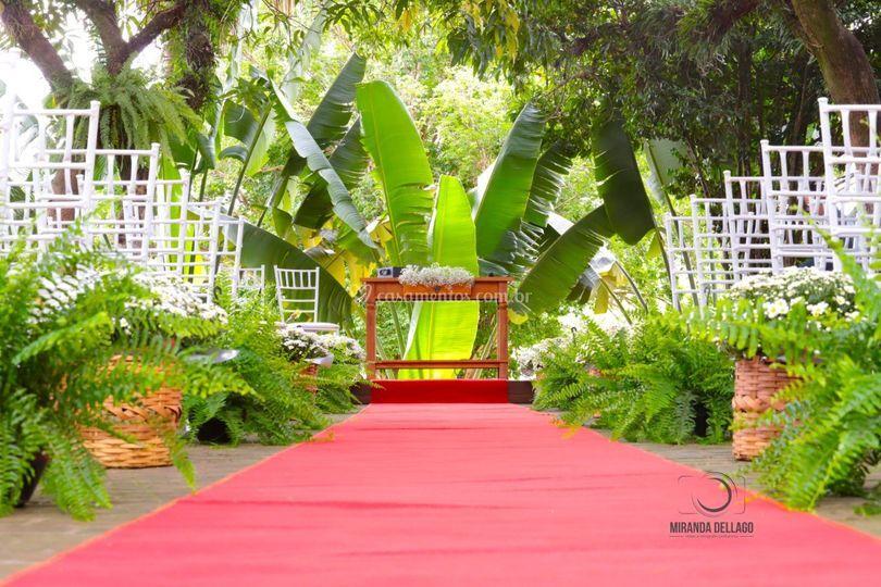 Cerimônia Realizada no Bosque