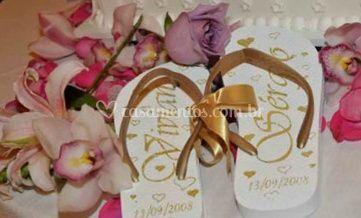 Sandálias dos noivos
