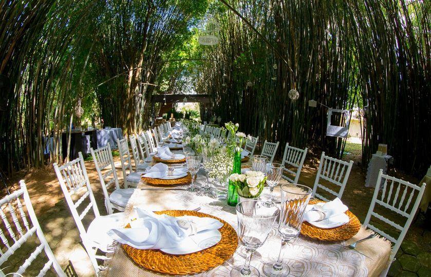 Almoço bambuzal