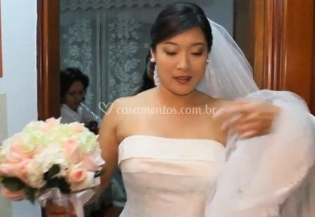 Noiva e buquê