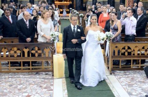 Chegada da noiva a o altar