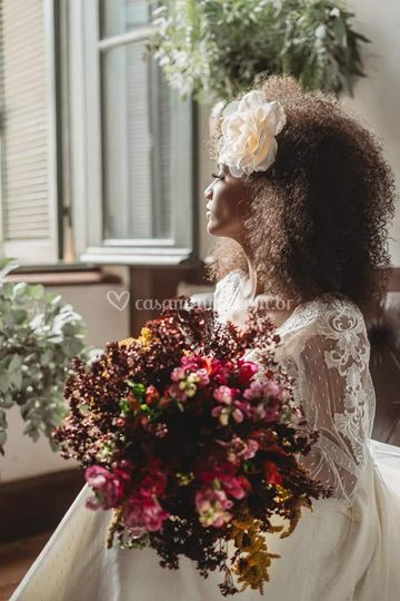Buquê de noiva vintage