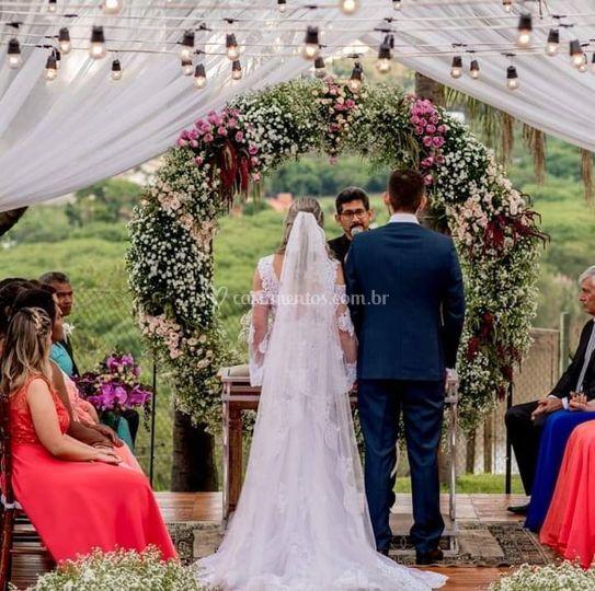Arco para cerimônia
