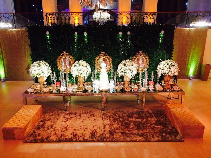 Cenário bolo - chandelier