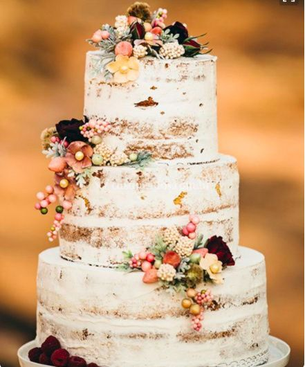 Naked Cake para casamentos