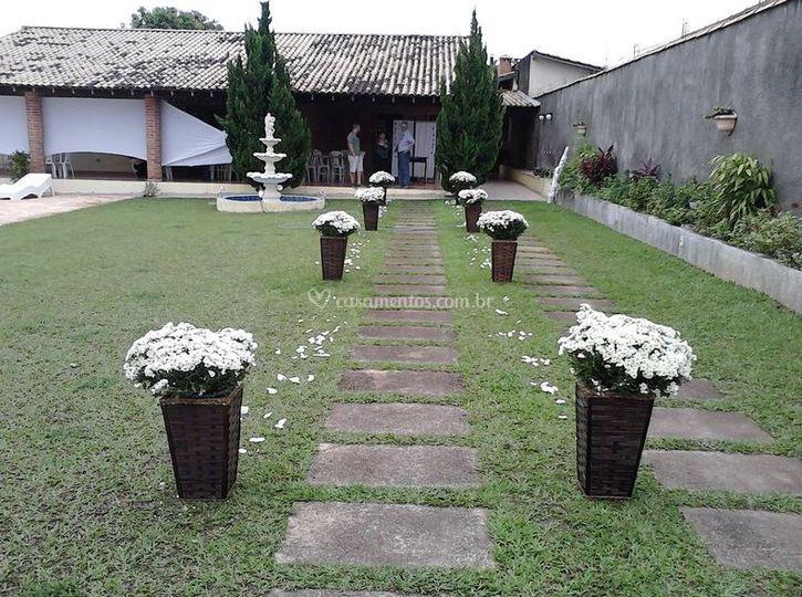 Ambientação com flores