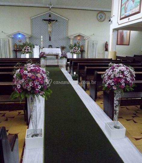 Arranjos florais para a Igreja