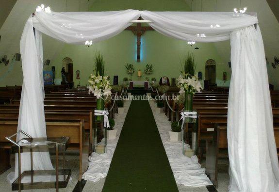 Cortina para entrada na igreja
