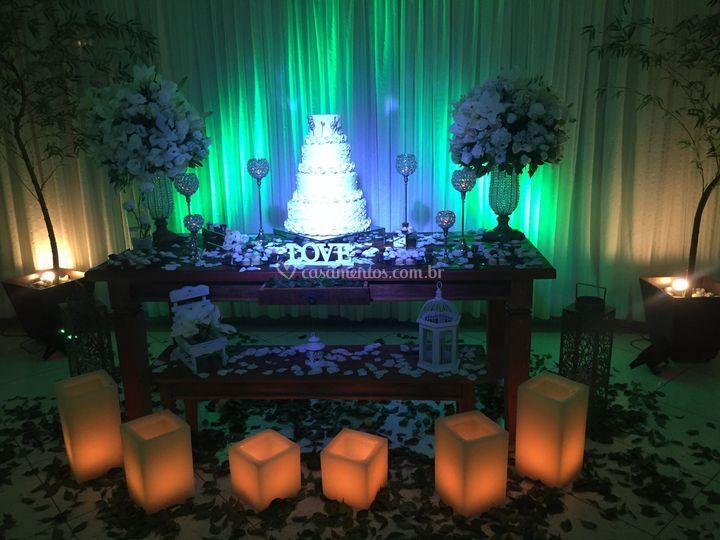 Mesa de bolo madeira