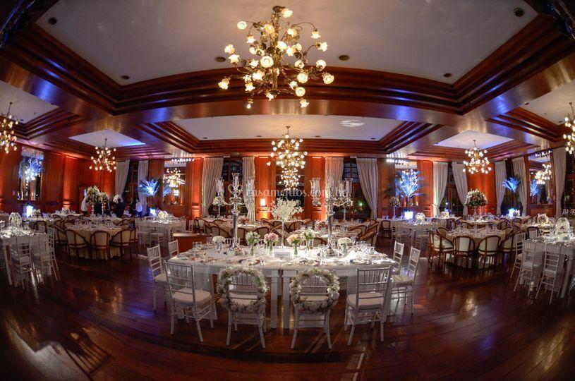 Salão decorado Rosa Rosarum