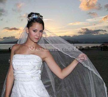O véu de noiva
