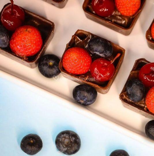 Caixinha de frutas vermelhas