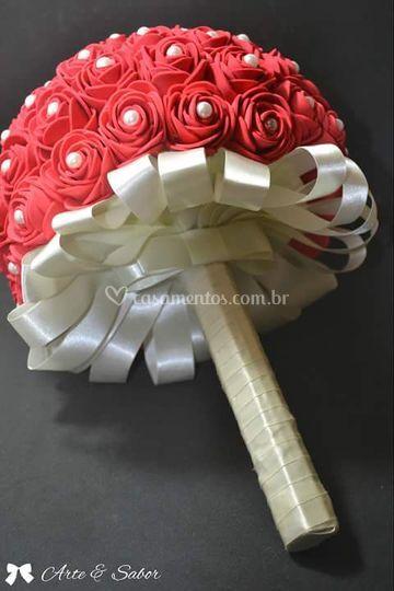 Buquê de Noiva com Rosas em EV