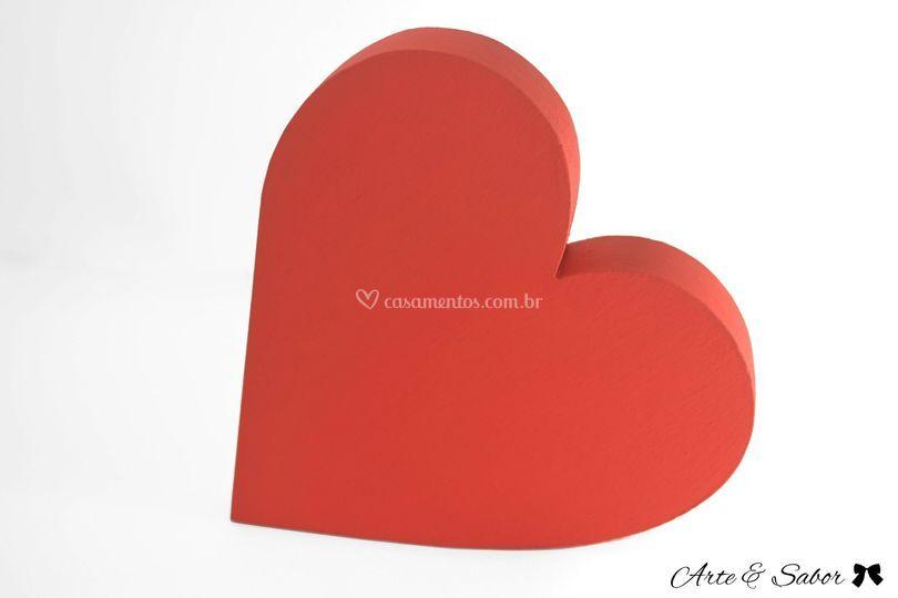 Coração em mdf