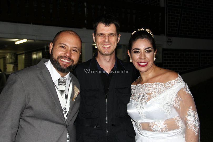 Com Marcelo e Pâmela