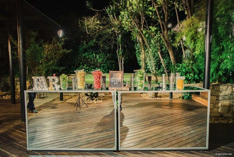 Bar de Drinks espelhado