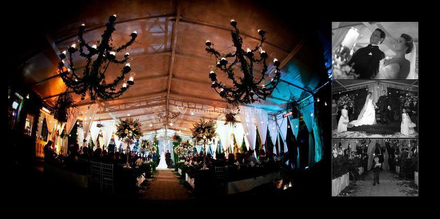 Panorâmica do casamento