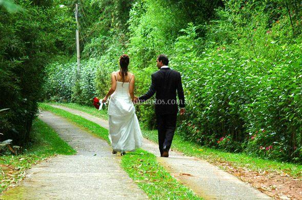 Espaço natural para noivos