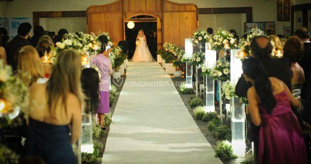 Chegada da noiva para a cerimônia