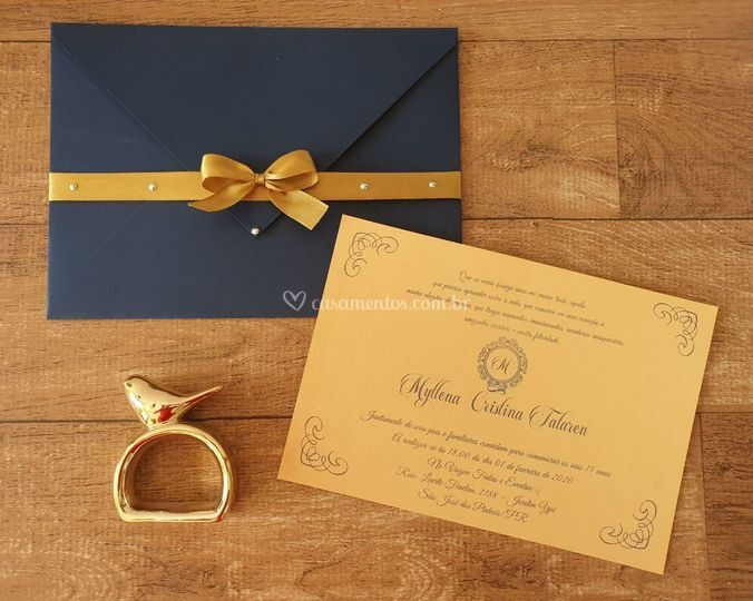 Convite envelope e laço