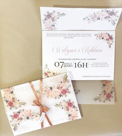 Convite papel vegetal