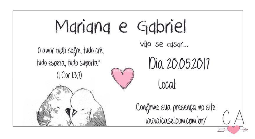 Convite Pássaros