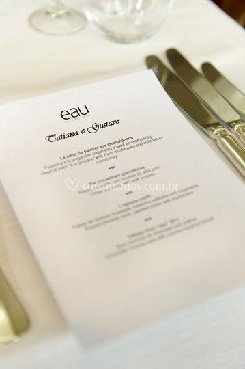 Detalhe menu