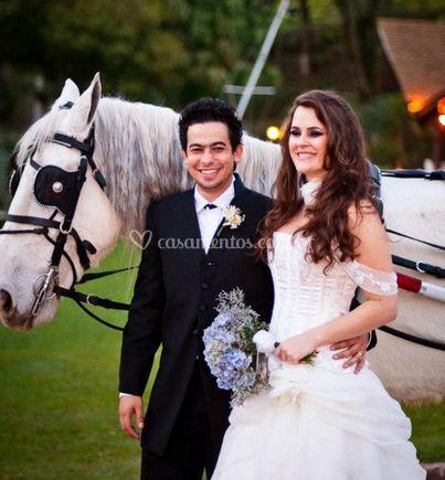 Aluguel de carruagens para noivos