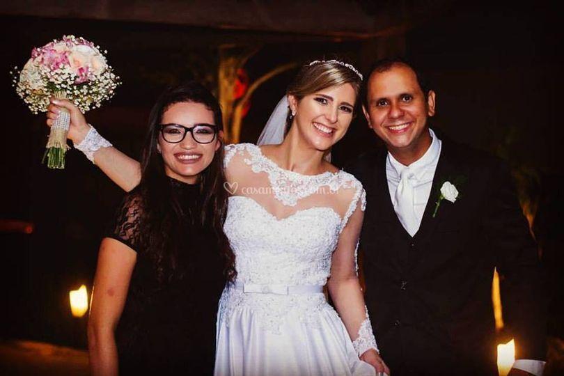 Foto com os recem Casados