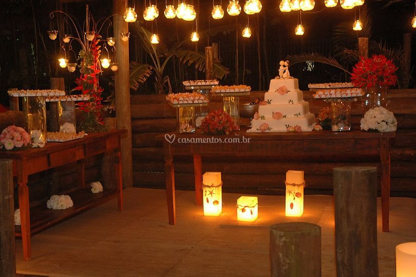 Ambiente doces e bolo