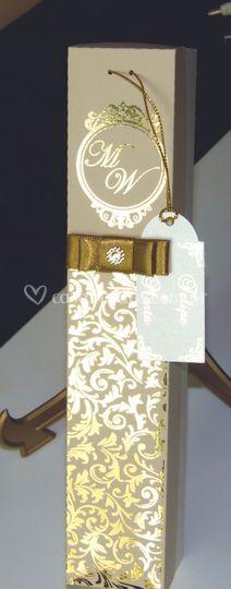 Convite de casamento luxo -