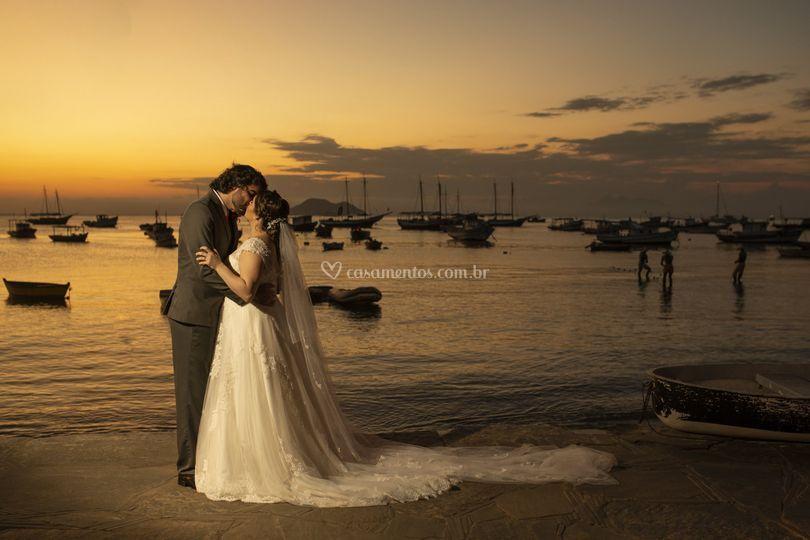 Noivos cerimônia de casamento
