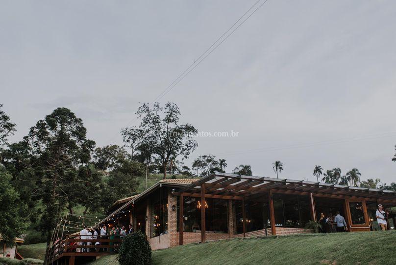 Casa principal - anoitecer