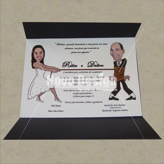 Convite de casamento Ref: 540