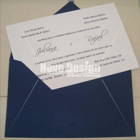 Convite de casamento Ref: 548