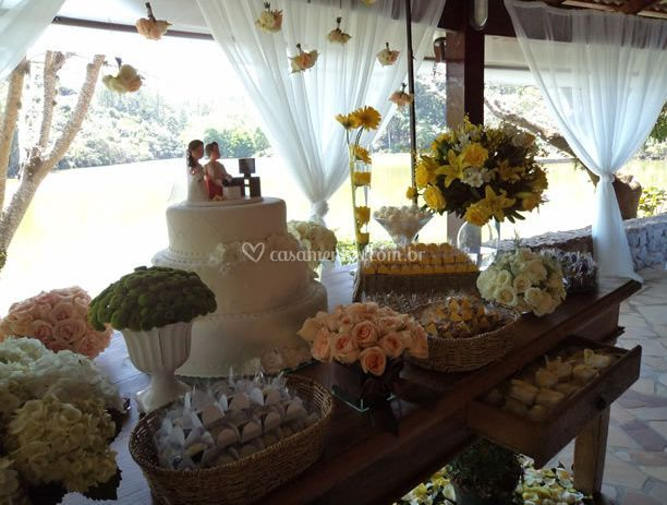 Mesa de doce de decoração