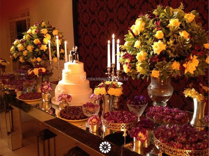 Mesa do Bolo noivos