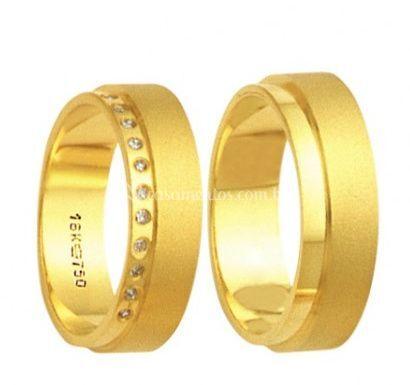 Alianças casamento ouro