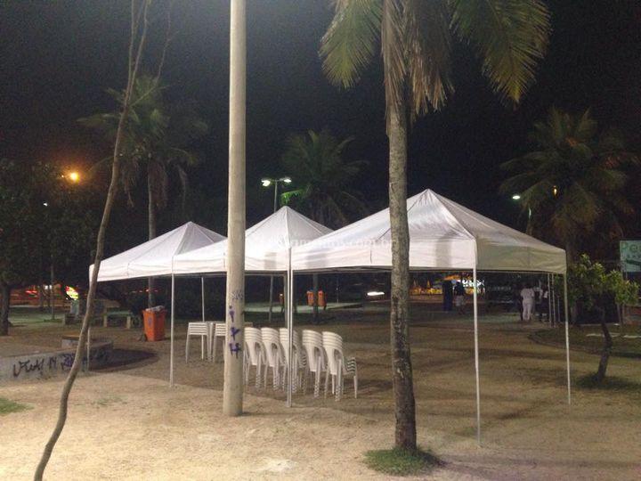 Tenda Sanfonada 3x9 mts