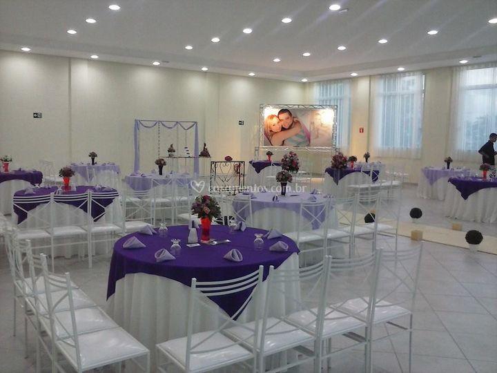 Cerimônia e recepção interna