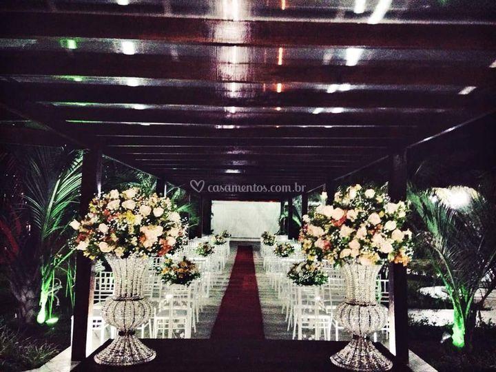 Cerimônia na passarela