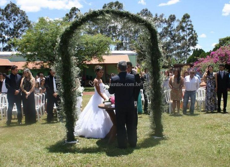 Cerimônia ar livre