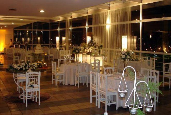 Salão para casamentos de Hotel Ilha do Boi