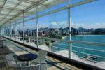 Vista da sal�o de Hotel Ilha do Boi
