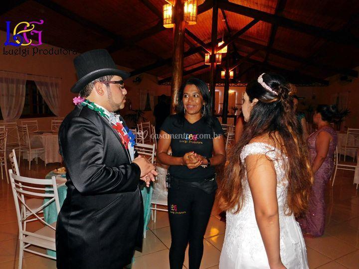 Conversando com os noivos