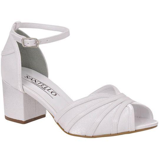 Sandália de noiva baixa