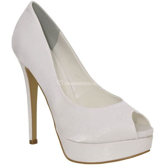Peep toe de noiva super alto