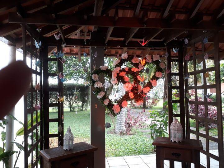Chácara decorada p casamento